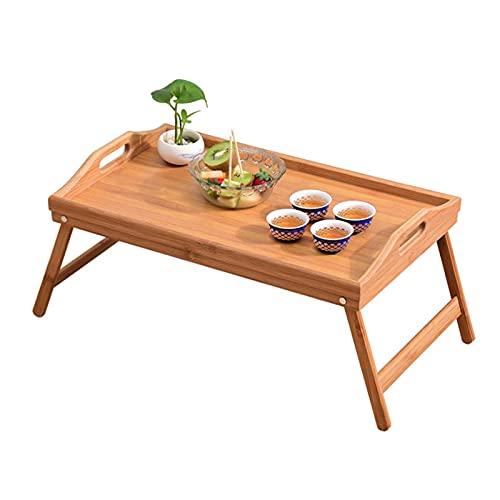 ZRXRY Mesa de Picnic portátil de bambú, Mesa de café para Patio...