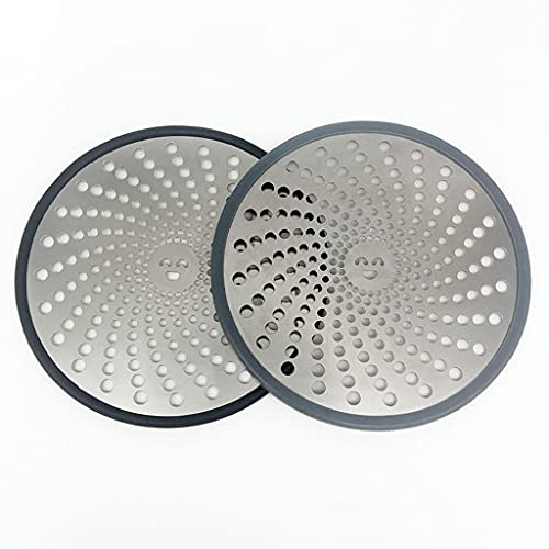 2 PCS Cubierta de Rejilla de Desagüe de Duración del Drenaje de la Ducha del Piso con Anillo de Silicona Balcón Reemplazable, Inodoro, Baño (Color : A)