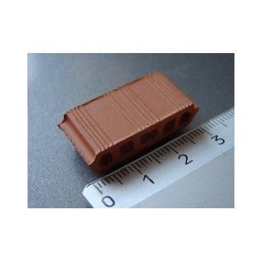 Domus Kits 02030 - 15 unidades bovedillas rojas escala 1:20, construcciones miniatura