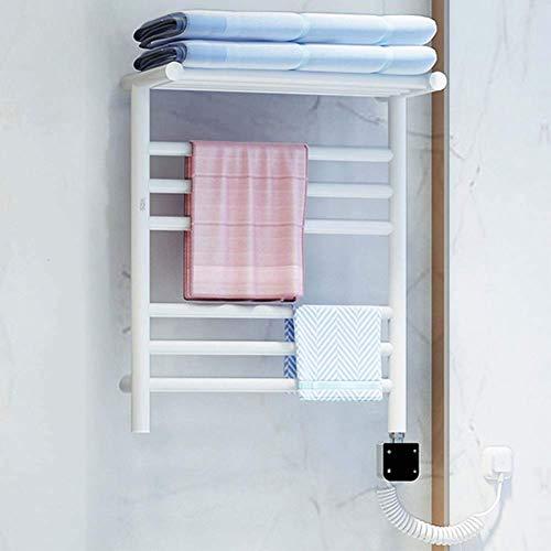BANANAJOY Toalla calentador eléctrico, calentador de toallas con termostato de bajo consumo de energía constante Enchufe Opciones de plug-in de acero inoxidable for el hogar Cuarto de baño (50 * 40 cm