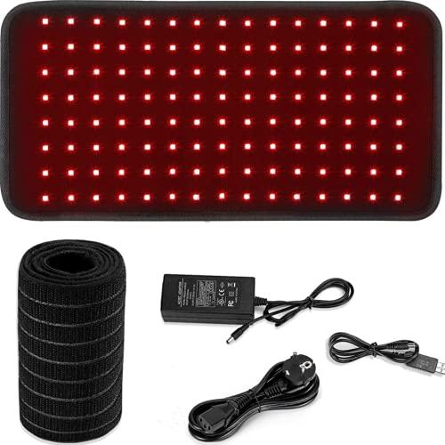 Dispositivo de terapia de luz roja y de infrarrojos cercanos, 660 nm, 850 nm, almohadillas grandes, para aliviar el dolor