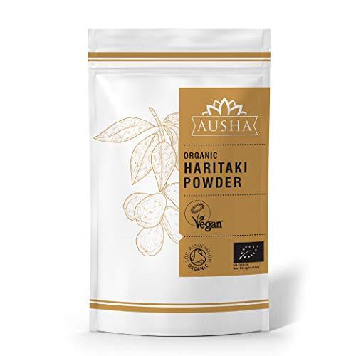 Ausha Organic Haritaki Powder 100g (Constipation,Detox,Cleanse,Immunity,Digestion,Certified Organic by Soil Association)