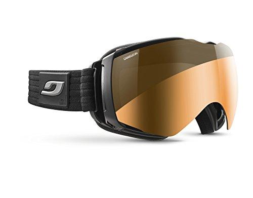 Julbo Aerospace Skibrille für Brillenträger OTG mit Reactiv-Bildschirm, photochromatisch XL+ Schwarz / Rubbergrau.