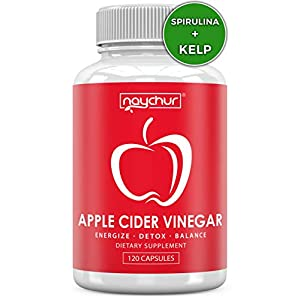 Apple Cider Vinegar Capsules – Detox Cleanse Diet Pills That Work Fast For Women Men – Support Weight Management Metabolism Hunger Appetite Control – Natural Bloating Relief Supplements – ACV Capsules
