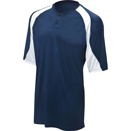 Mizuno Youth G3 2 Button Color Block Jersey (Navy, X-Large)