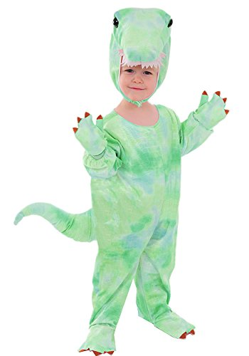 T - Rex grün Kinder Kostüm 98 - 104 Kinderkostüm Drache Dino Dinosaurier Fasching Karneval Rummelpott Tyrannosaurus