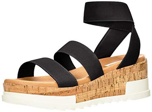 Steve Madden Bandi Wedge Sandal Black 8 M