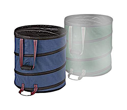 1a-Handelsagentur Pop-Up Garten-Abfallbehälter 85 Liter Laubsammler Gartenbehälter Abfallbehälter, Farbe:blau