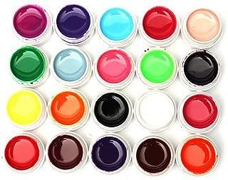 Nail Art Nail Gel & Polish - 20 Mix Pure Colors Nail Gel Builder - 20 X UV Gel (random 20 colors)