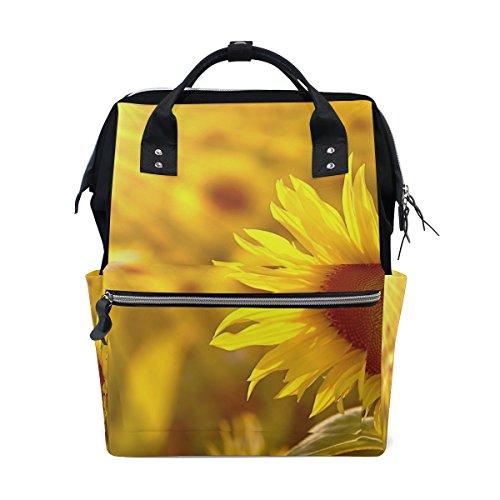 COOSUN Le sac à dos de tournesol Sac à couches Champ, grande capacité Muti-Fonction Voyage Sac à dos Grand multicolore # 001