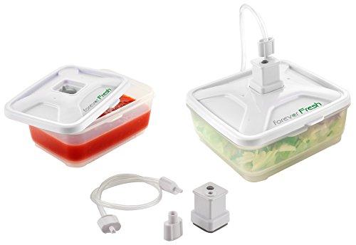 Macom Forever Fresh 705. Set Universale con 2 Contenitori per Macchine Sottovuoto Alimenti, 600 ml e 900 ml, Plastica
