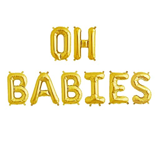 Oh Babies Balloons Twins Baby Shower Banner Party Supplies Decorations Gender Reveal