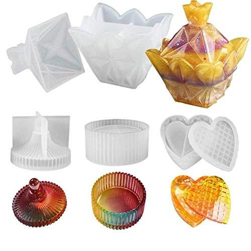 Venus Valink Silikonform für Schmuck-Aufbewahrungsbox, Süßigkeitendosen, Eierschalenform, Kunstharz-Silikonform, handgefertigtes Werkzeug, Kunstharz, Epoxidharz-Formen, Schmuckkästchen, Scha