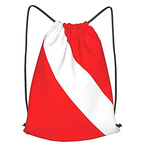 Sackpack - Mochila de buceo con diseño de bandera de buceo ultra ligera con cordón suave y resistente a la decoloración para hombres y mujeres y niños