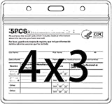 5PCS CDC Badge Holders 4 X 3 Inches Record Cards Protector Holder Clear Vinyl Plastic Sleeve with Waterproof Type Resealable Zip (5)