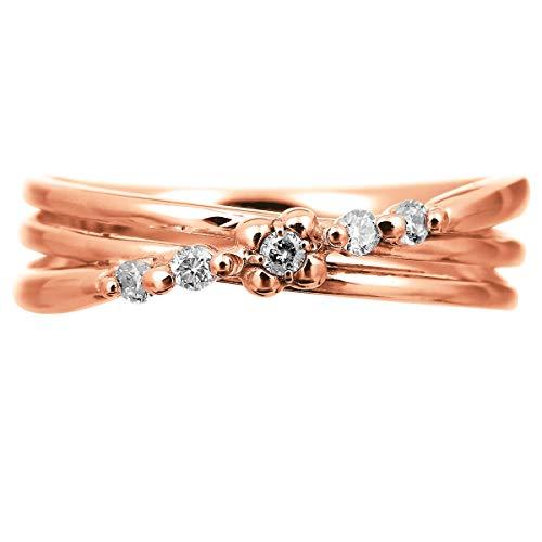 [ココカル]cococaruダイヤ リング ダイヤモンドリング ダイヤモンド 指輪 レディース 18金 18k K18 ゴールド イエローゴールド ピンクゴールド ホワイトゴールド ギフト 贈り物 記念日 プレゼント 日本製(ピンクゴールド 17)