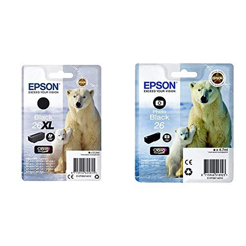 Epson Premium 26XL - Cartucho de Tinta, Negro, C13T26114022 - Cartucho de Tinta