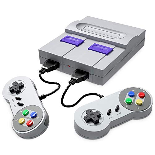 Retro Game Console- Handheld Video Game Console Classic Built-in 821 Games(Original SNES Style) with Controllers, Super Mini TV Classic Gaming Console Plug&Play HDMI HD Player for Kid, Adult Gift