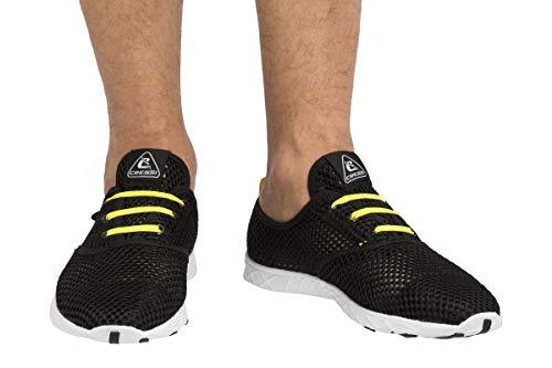 Cressi 1946 Aqua Shoes Zapatos Deportivo para Uso Acuático, Negro/Amarillo, 41
