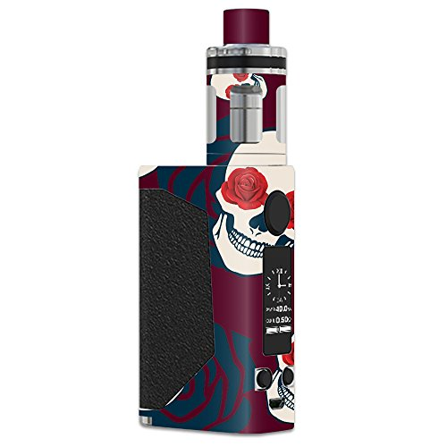 MightySkins Skin Compatible with JoyeTech eVic Primo – Skulls N Roses | Protective, Durable, and Unique Vinyl Decal wrap Cover | Easy to Apply, Remove, and Change Styles | Made in The USA