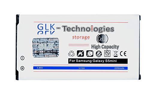 High Power Ersatzakku für Samsung Galaxy S5 Mini EB-BG800BBC EB-BG800BBE | Original GLK-Technologies Battery | accu | 2250 mAh | NEU