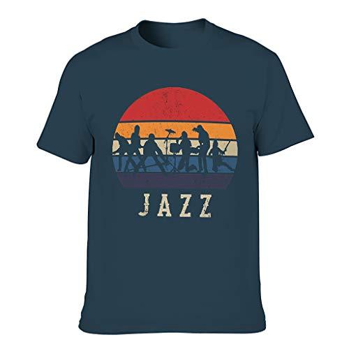 FFanClassic Camiseta de algodón para hombre Jazz Colorful Comfortable - Print Tops
