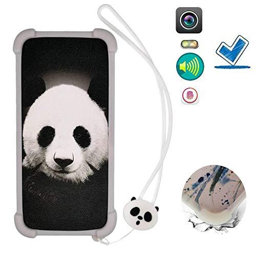 Custodia per Nokia 130 Nokia130 Custodia Bordo del Silicone + PC Card Stand Case Cover La Notte splende KBXM ITHYJ