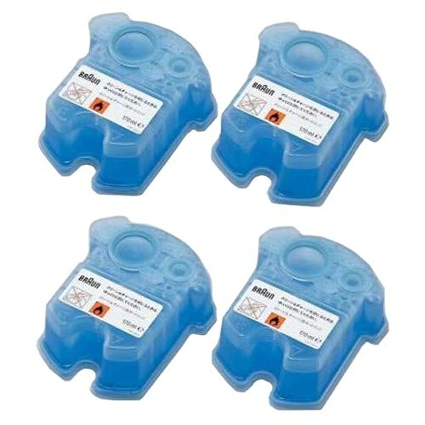 暗殺者永遠のメンタリティ【2セット】ブラウン メンズシェーバー アルコール洗浄システム専用洗浄液カートリッジ (4個入×2セット)(計8個) CCR4CR-2SET