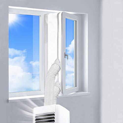 REDTRON Fensterabdichtung für Mobile Klimageräte, Klimaanlagen, Wäschetrockner und Ablufttrockner | AirLock zum Anbringen an Fenster, Dachfenster, Flügelfenster | Fensterabdichtung Klimaanlage 400CM