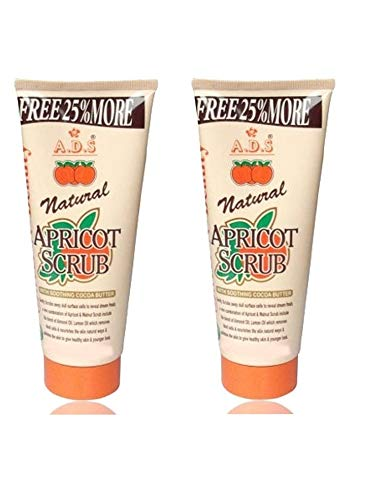 GLAVON ADS Everyday Naturals Hydrating & Exfoliating Apricot 200 gm Scrub in Combo with Crazy Lips Lip Balm(Red) [ Super Pack of 3 Items ]