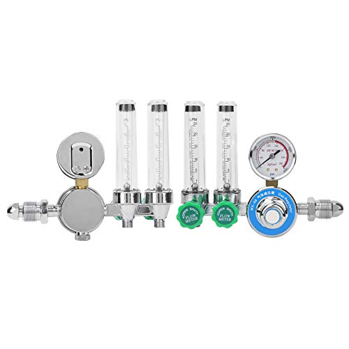 Reductor de presión del medidor de flujo de gas del regulador de argón estándar de EE. UU. Con rango de medición 0-4000PSi para la industria