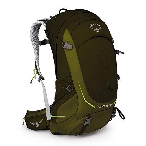 Osprey Stratos 34 belüfteter Wanderrucksack für Männer - Gator Green (M/L)