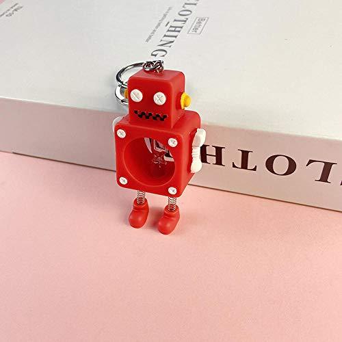 WGYDX Llavero Accesorio para Hombres Y Niños Lindo Llavero De Robot Rojo Joyería Creativa Llavero Coche Niños Adultos Mochila Colgante Sra. Llaveros