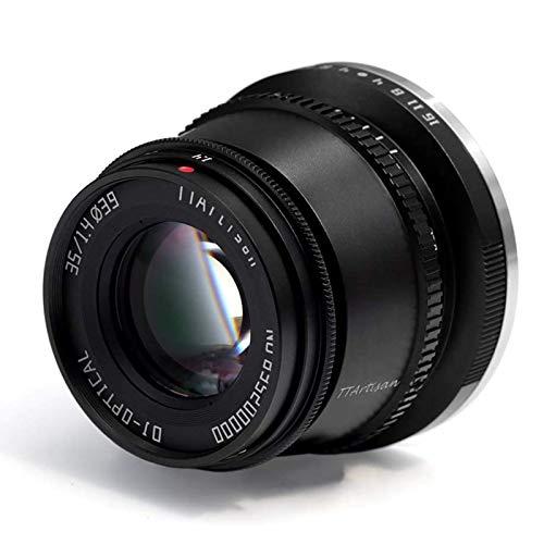 TTArtisan 35 mmF1.4 APS-C Manueller Fokus Objektiv kompatibel mit Fuji X Mount Kamera X-A10 X-A20 X-A3 X-A5 X-A7 X-M1 X-M2 X-T10 X-T2 X-T20 X-T3 X-T30 X-T100 X-T200 X-Pro1 X-Pro2 X-Pro3 X-E1