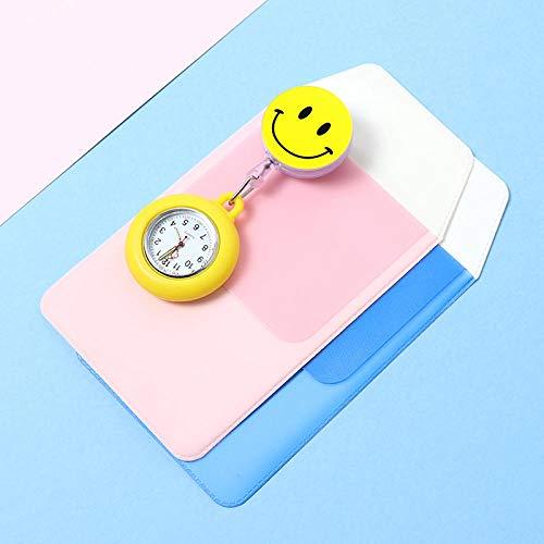 Cxypeng Fashion Style Nurse Pocket Watch,Cute retractable nurse watch, female student doctor silicone luminous watch-GG,Tunic Brooch Pocket Watch