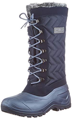 CMP Damen NIETOS WMN Snow Boot, Black Blue, 38 EU