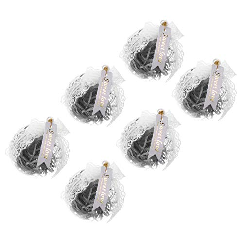 PRETYZOOM 6pcs Clear Fillable Ornaments Ball with Tinsel Sweet Love Tag Christmas Tree Baubles Wedding Party Favor Boxes for Candy Treat DIY Clear Clear Ball for Wedding Bridal Shower Party