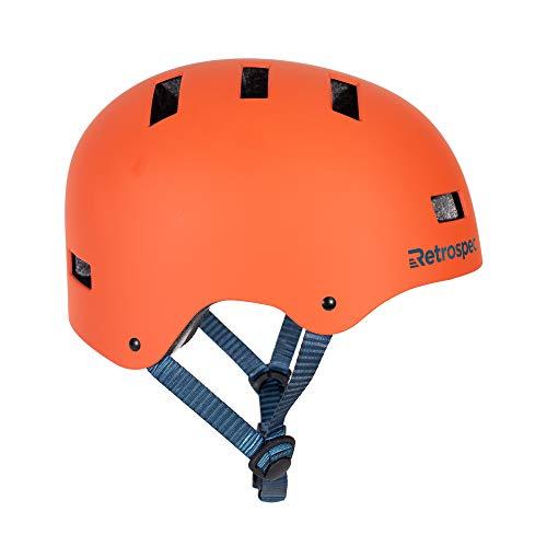 Retrospec CM-1 Bicycle / Skateboard Helmet for Adult CPSC Certified Commuter, Bike, Skate, Matte Burnt Orange, Medium: 55-59 cm / 21.75'-23.25'