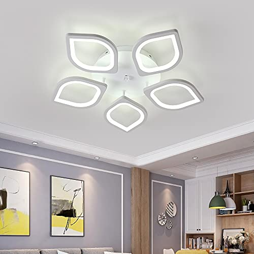 DAXGD Lampadari moderni a LED in acrilico, Lampadario a soffitto da 60W a 5 teste, lampada da...