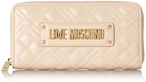 Love Moschino Damen Jc5600pp1a Geldbörse, Beige (Naturale), 2x10x19 centimeters