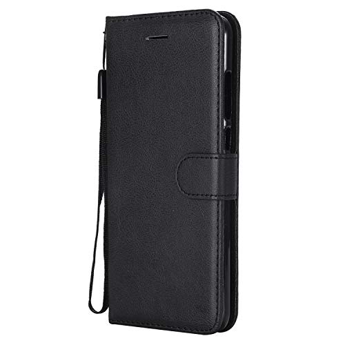 Hülle für Xiaomi Redmi 5Plus Hülle Handyhülle [Standfunktion] [Kartenfach] Tasche Flip Hülle Cover Etui Schutzhülle lederhülle flip case für Xiaomi Redmi 5 Plus - DEKT051887 Schwarz