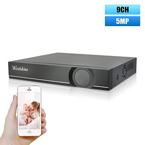 Westshine Grabadora de vídeo de Red de 9 Channel CCTV NVR Onvif P2P Escaneo rápido de códigos QR con Vista remota fácil Salida HDMI/VGA, el Disco Duro no está Incluido y no Hay WiFi Incorporado