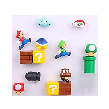 14 Pack Super Mario Fridge Magnets For Kids Decorative Refrigerator Locker Magnets Kitchen School Office Fun Decoration