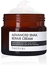 THEPURI Advanced Snail Repair Cream 3.17 fl. oz. (90g) / 92% Snail Mucin Extract, All in One Recovery Anti-Aging Moisturizing Facial Cream, Evens Skin Tone and Fades Dark Spots, Reverses Sun Damage