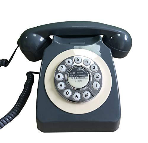ZARTPMO Teléfono Fijo de Resina Retro Antiguo Usado para decoración de Escritorio