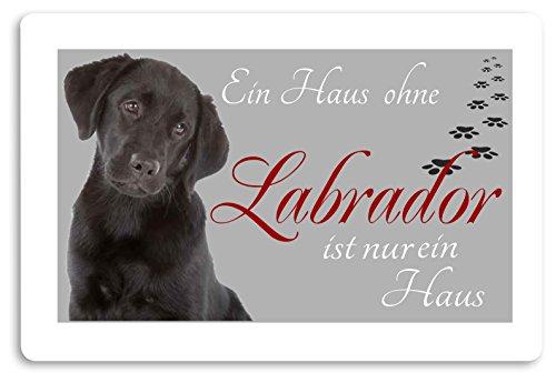 Creativ Deluxe 'Felpudo (Estampado diseño de Animales Perro Felpudo Interior frigo Divertido diseño Felpudo (Labrador