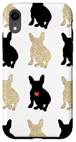 iPhone XR Frenchie Love Silhouette Case