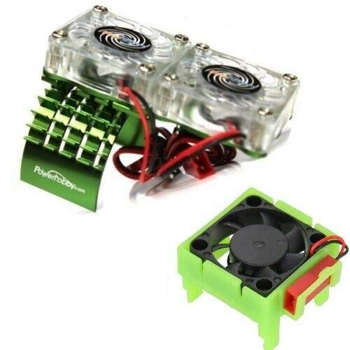 Powerhobby Motor Cooling Fan/HeatSink Dual Twin Fan + Velineon VXL-3s...