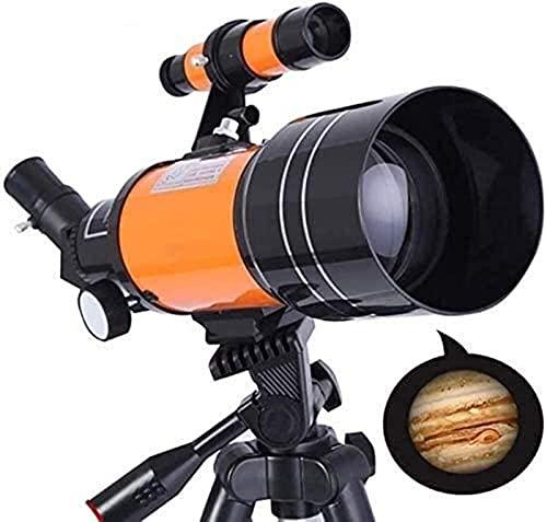 GWDFSU Telescopio astronómico HD Profesional Far Space Primer plano de la Luna 70300 Telescopio Telescopio 2020, Equipo astronómico para niños