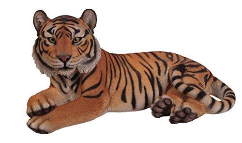 Hi-Line Gift Ltd Laying Down Tiger Statue, Yellow